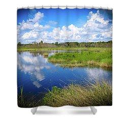 Wading Bird Way Shower Curtain