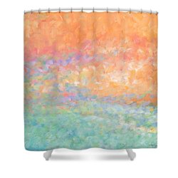 Wading Out Of The Water Shower Curtain by Angela Treat Lyon