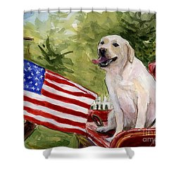 Wag The Flag Shower Curtain