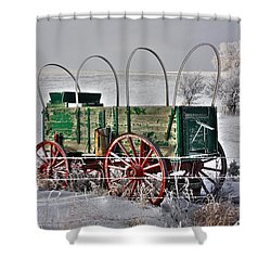 Wagon Shower Curtain