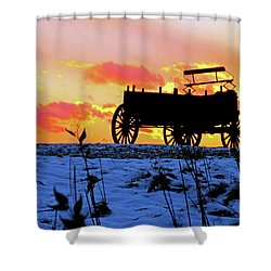Wagon Hill At Sunset Shower Curtain