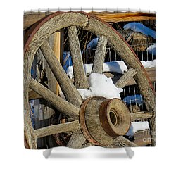 Wagon Wheel 1 Shower Curtain