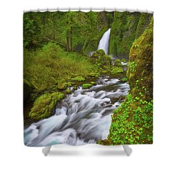 Shower Curtain featuring the photograph Wahclella Falls by Darren White