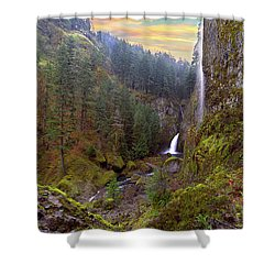 Wahclella Falls In Columbia River Gorge Shower Curtain by David Gn
