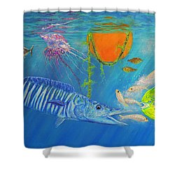Wahoo Dolphin Painting Shower Curtain