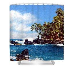 Waianapanapa Maui Hawaii Shower Curtain by Kurt Van Wagner