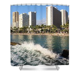 Waikiki Breakers Shower Curtain