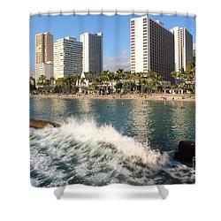 Waikiki Breakers Shower Curtain