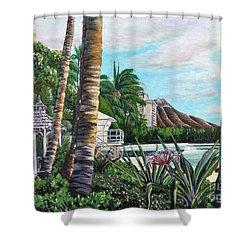 Waikiki Shower Curtain