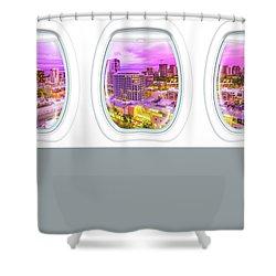 Waikiki Porthole Windows Shower Curtain