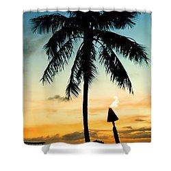 Waikiki Sunset Shower Curtain