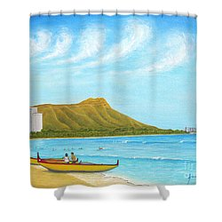 Waikiki Wonder Shower Curtain by Jerome Stumphauzer