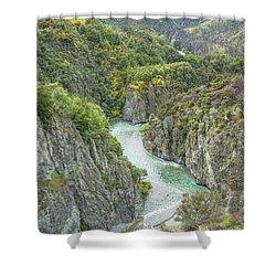 Waimakariri Gorge Shower Curtain
