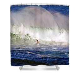 Waimea Bay Wave Shower Curtain by Kevin Smith