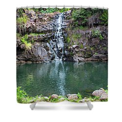 Waimea Waterfall Horizontal Shower Curtain