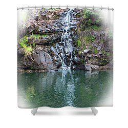 Waimea Waterfall Vignette Shower Curtain
