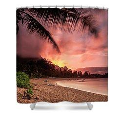 Wainiha Kauai Hawaii Bali Hai Sunset Shower Curtain