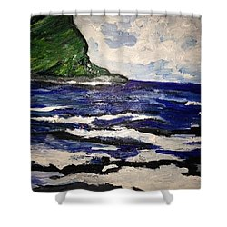 Waipio Valley  Beach Shower Curtain
