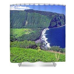 Waipio Valley, Big Island, Hawaii Shower Curtain