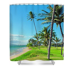 Shower Curtain featuring the photograph Waipuilani Beach Kihei Maui Hawaii by Sharon Mau