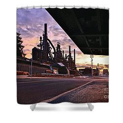 Shower Curtain featuring the photograph Waitin' On The Bus by DJ Florek