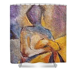 Shower Curtain featuring the mixed media Waiting by Dragica  Micki Fortuna