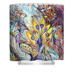 Waiting For A Miracle Shower Curtain by Elena Kotliarker