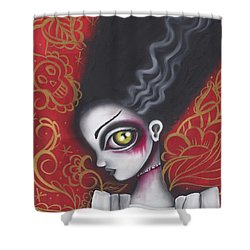 Waiting For  Frankenstein  Shower Curtain by Abril Andrade Griffith