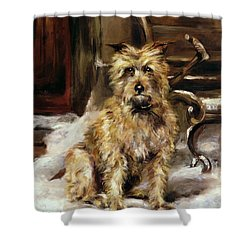 Waiting For Master   Shower Curtain by Jane Bennett Constable