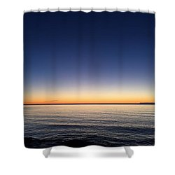 Shower Curtain featuring the photograph Waiting For Morning by Paula Brown