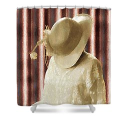 Waiting For Mr. Right Shower Curtain by RC deWinter