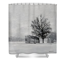 Waiting For Spring Shower Curtain by Peter Salwen
