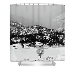 Shower Curtain featuring the photograph Waiting For Spring by Silke Brubaker