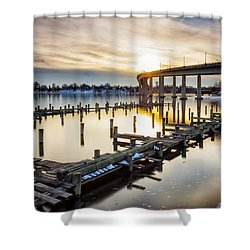 Shower Curtain featuring the photograph Waiting For The Set by Edward Kreis