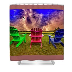Shower Curtain featuring the photograph Calm Before The Storm by Paul Wear