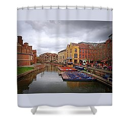 Shower Curtain featuring the photograph Waiting For The Tourists Cambridge by Gill Billington