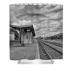 Waiting For The Train Shower Curtain