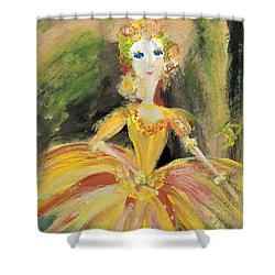 Shower Curtain featuring the painting Waiting In The Wings by Judith Desrosiers