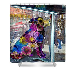 Waiting Shower Curtain by Judi Saunders