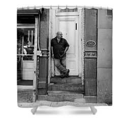 Shower Curtain featuring the photograph Waiting On A Friend by Rob Hans