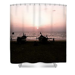 Waiting To Fish Shower Curtain
