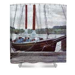 Waiting To Sail Shower Curtain by Jeff Kolker