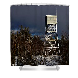 Waiting Tower Shower Curtain