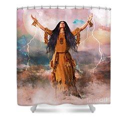 Wakan Tanka The Great Spirit Shower Curtain