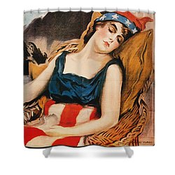Wake Up America Poster Shower Curtain by Granger