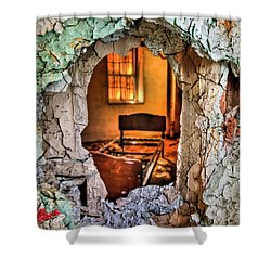 Wake Up And Smell The Misery Shower Curtain by Evelina Kremsdorf