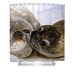 Wake Up Kiss Shower Curtain