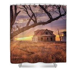 Shower Curtain featuring the photograph Waking Up With A Friend by Darren White