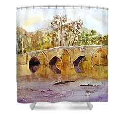 Wales Dipping Bridge Shower Curtain