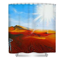 Walk A Mile Shower Curtain by Raymond Perez